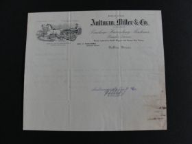 1900 Aultman Miller & Co. Letter from Akron OH Office to Roswell NM