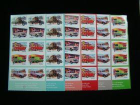 Australia Scott #2553a-2557b Complete Set Of Booklet Panes Of 10
