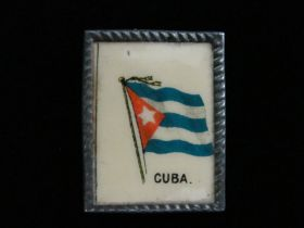 1898-1900 Tobacco Premium Cuban Flag Advertising Mini-Frame
