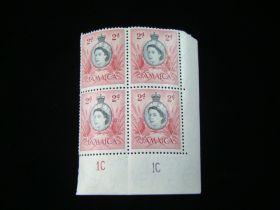 Jamaica Scott #161 Plate # Block Of 4