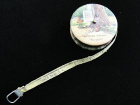 "1930's ""World Famous Tree House"" Redwood Highway CA Tape Measure Souvenir"