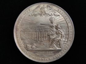 1892-1893 Worlds Columbian Exposition View Medal Gilt Bronze Eglit-55