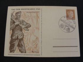 1942 German Third Reich Postal Card Ukraine Commemorative Cancel 01d