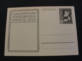 1942 German Third Reich Postal Card Unused 01c