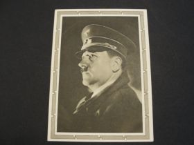 "1938 German Third Reich Unused Postal Card ""Hitler"" 01h"