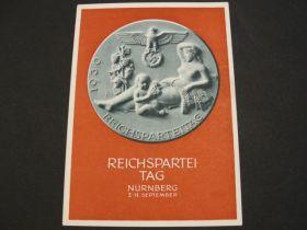 """1939 German Third Reich Unused Postal Card """"Reichspartei-Tag Nurnberg"""" 01i"""