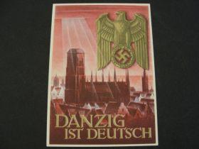 "1940 German Third Reich Unused Postal Card ""Danzig"" 01j"