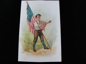 1905-1910 American National Insurance Company Galveston TX Patriotic Ad Card