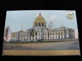 1910-1915 St. Paul Minnesota State Capitol Embossed Golden Postcard