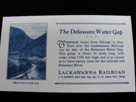 1905-1915 The Delaware Water Gap Lackawanna Railroad Advertising Card