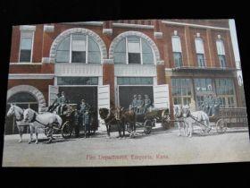 1907-15 Emporia Kansas Fire Department Postcard