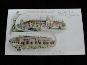 1904 St. Louis World's Fair Palace Of Mines & Metallurgy Postcard