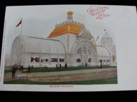 1904 St. Louis World's Fair Belgium Building Postcard By Samuel Cupples