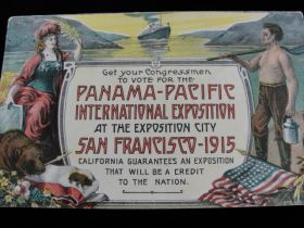 1915 Panama–Pacific International Exposition (1910 Dated) Exposition Postcard