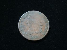 1826 Classic Head Half Cent About Good