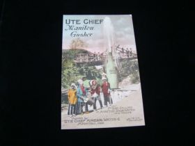 """Early 1900's """"Ute Chief Manitou Gusher"""" Manitou Springs Colorado Postcard"""