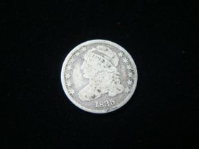 1835 Capped Bust Silver Dime About Good