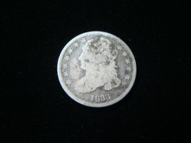 1833 Capped Bust Silver Dime About Good