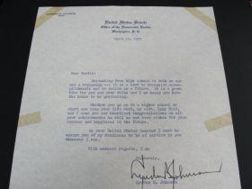 1957 Lyndon B. Johnson Signed Letter On United States Senate Letterhead