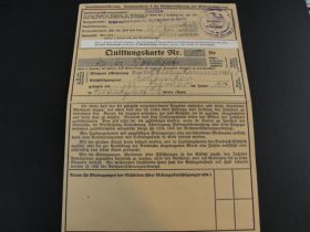 1939 German Nazi Disability Insurance Stamp Folder Complete With 52 Cancelled 270pf Revenue Stamps