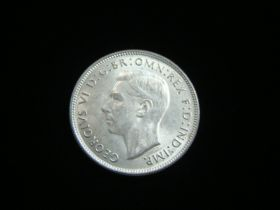 Australia 1940 Silver Florin About Uncirculated