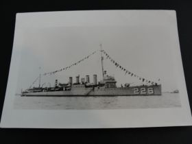 1920 USS Peary (DD-226) United States Navy Destroyer Original Event Photograph