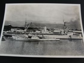 1920-1930 U.S. Pearl Harbor HI Navy Ships & Subs Docked Original Photo