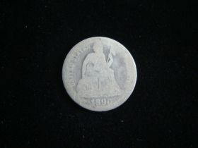 1890 Liberty Seated Silver Dime Fair