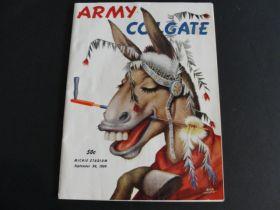 1950 Army Colgate Football Program With Bob Hoke Cover Art Rare