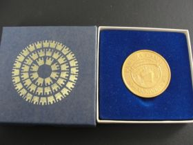 1904-1984 Panama Canal 80th Anniversary Royal Cruise Line Commemorative Medal