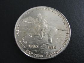 1860-1935 Pony Express Diamond Jubilee Medal Brilliant Uncirculated