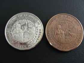 1776-1976 American Revolution Bicentennial Montclair NJ Silver & Bronze Medals