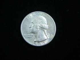 1945 Washington Silver Quarter AU+