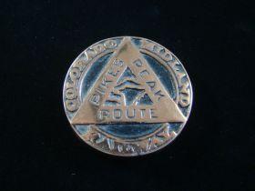 1880's Colorado Midland Railway Pikes Peak Route Copper Paper Weight Rare!!