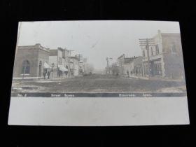 1907 Dated Street Scene No. 2 Emerson Iowa Postcard