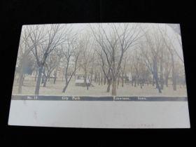 1907 Dated No. 13 City Park Scene Emerson Iowa Postcard