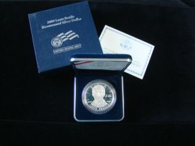 2009-P United States Mint Proof Louis Braille Bicentennial Silver Dollar