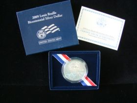 2009-P United States Mint Unc. Louis Braille Bicentennial Silver Dollar