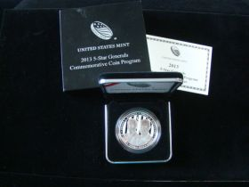 2013-P United States Mint Proof 5 Star Generals Silver Dollar