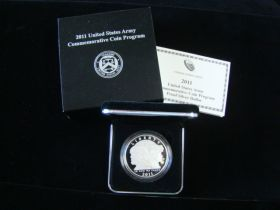 2011-P United States Mint Proof United States Army Silver Dollar