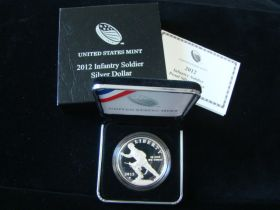 2012-W United States Mint Proof Infantry Soldier Silver Dollar