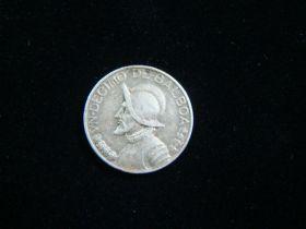 Panama 1934 Silver 1/10 Balboa VF+