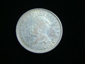 Australia 1927 Silver Florin About Uncirculated