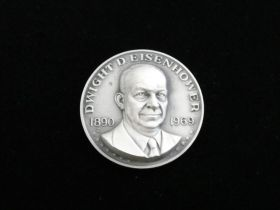 1890-1969 Dwight D. Eisenhower Commemorative Sterling Silver Medal