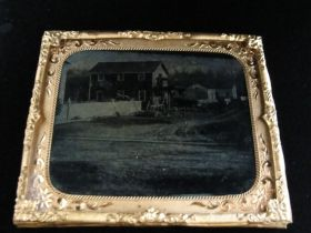1850's Cased Ambrotype Photograph Of A Carriage