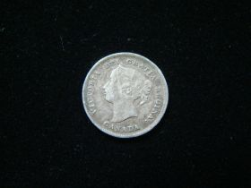 Canada 1898 Silver 5 Cents Very Fine+