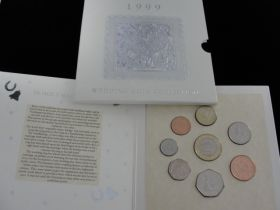 1999 British Royal Mint Wedding Coin Collection 8 Coin Set