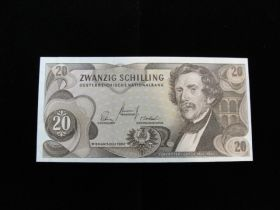 Austria 1968 20 Schilling Uncirculated Pick#142