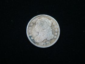 1833 Capped Bust Silver Dime Good+