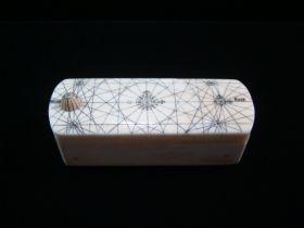 Antique Scrimshaw Puzzle Snuff Box